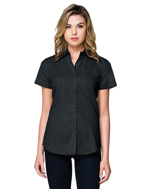 Tri-Mountain WL700SS Women Regal Short-Sleeve Woven Shirt at GotApparel