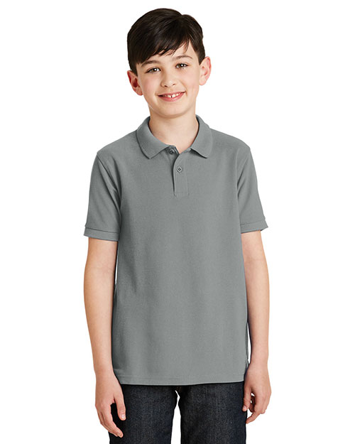 Port Authority Y500 Boys Silk Touch  Polo at GotApparel