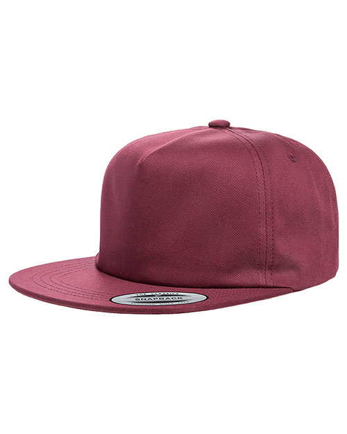 Yupoong Y6502 Men Unstructured 5-Panel Snapback Cap at GotApparel