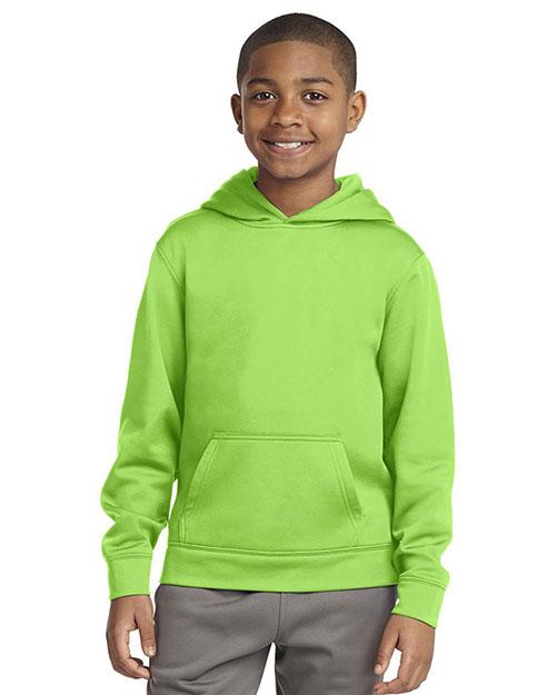 Sport-Tek® YST244 Boys Sport-Wick Fleece Hooded Pullover at GotApparel