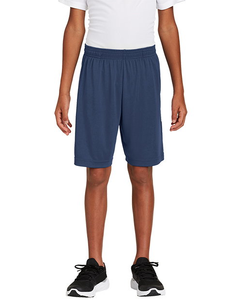 Sport-Tek® YST355P Boys Youth PosiCharge® Competitor™ Pocketed Short  at GotApparel
