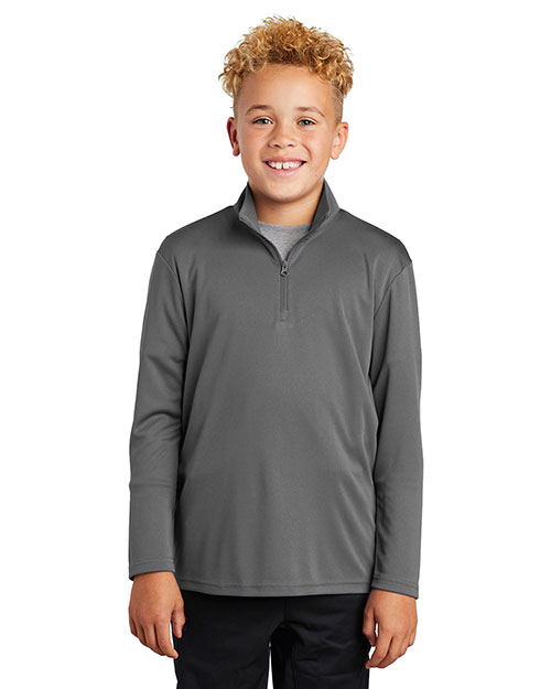 Sport-Tek YST357 Youth 3.8 oz PosiCharge Competitor 1/4-Zip Pullover at GotApparel