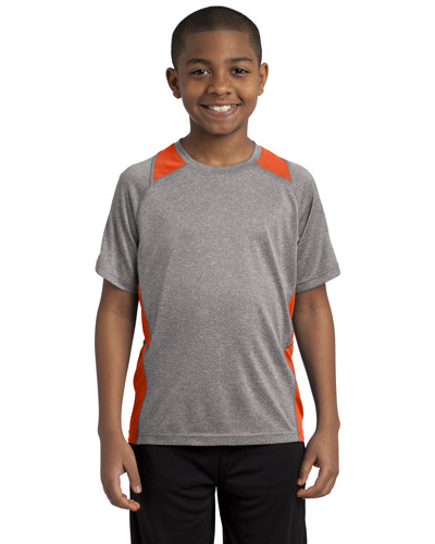 Sport-Tek® YST361 Boys Heather Colorblock Contender  Tee at GotApparel