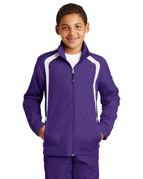 Sport-Tek® YST60 Boys Colorblock Raglan Jacket at GotApparel
