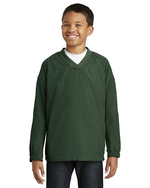 Sport-Tek® YST72 Boys V-Neck Raglan Wind Shirt at GotApparel