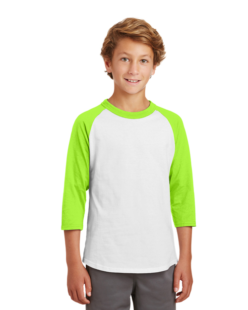 Sport-Tek® YT200 Boys Colorblock Raglan Jersey at GotApparel
