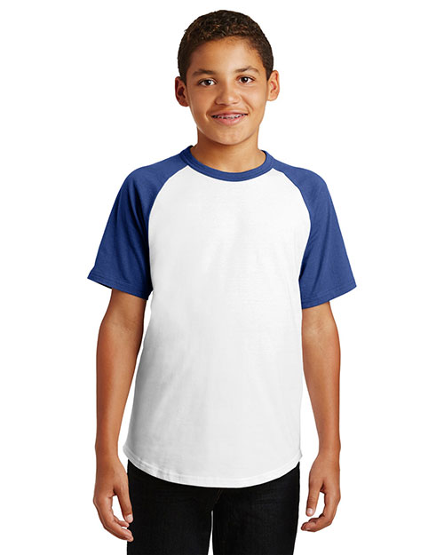 Sport-Tek® YT201 Boys Short-Sleeve Colorblock Raglan Jersey at GotApparel