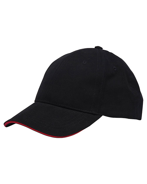 Bayside 3617 Unisex Washed Cotton Unstructured Sandwich Cap at GotApparel
