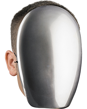 Halloween Costumes DG39340 Unisex Morris  No Face Chrome at GotApparel