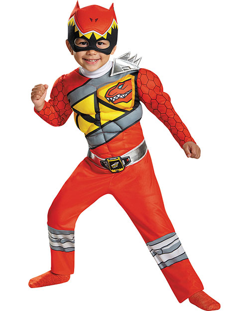 Halloween Costumes DG82740L Boys Red Ranger Dino Muscle Tod 4-6 at GotApparel