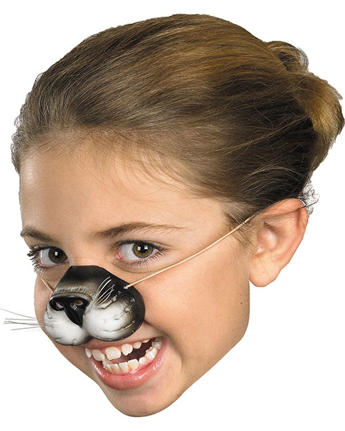 Halloween Costumes FA132 Unisex Nose Black Cat W Elastic at GotApparel
