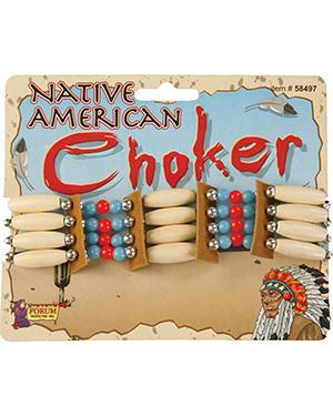 Halloween Costumes FM58497 Unisex Morris  Native American Choker at GotApparel