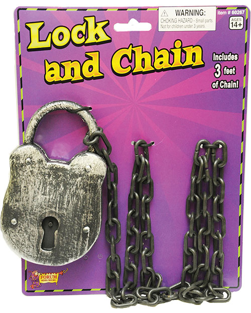 Halloween Costumes FM60267 Unisex Lock And Chain at GotApparel