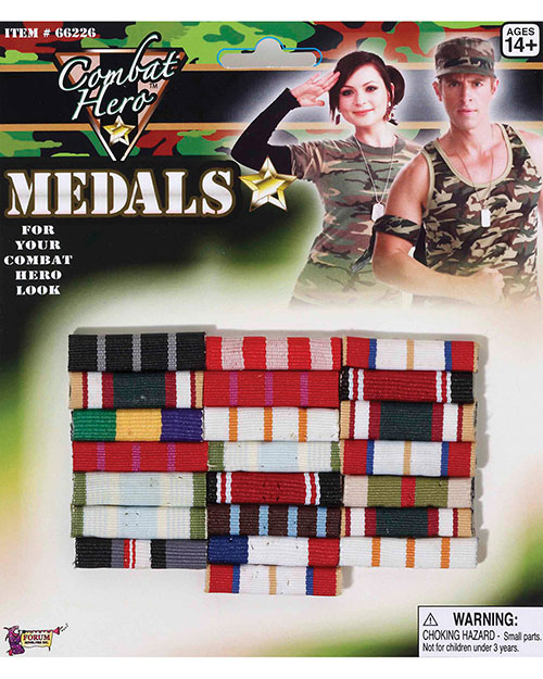 Halloween Costumes FM66226 Unisex Combat Hero Medals Bars at GotApparel