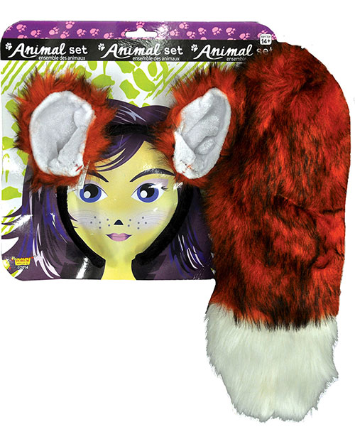 Halloween Costumes FM68604 Unisex Fox Ears And Tail Set at GotApparel