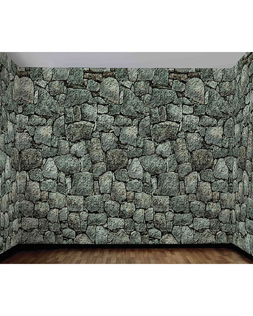 Halloween Costumes FM68907 Unisex Stone Wall Roll 20 X 4 at GotApparel