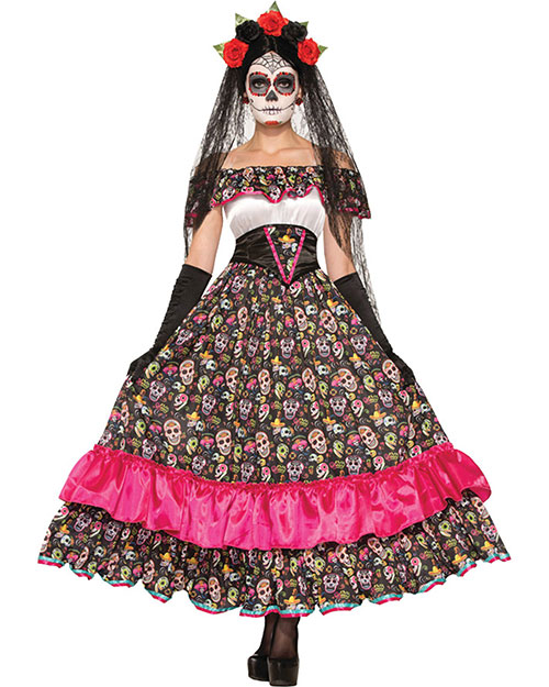 Halloween Costumes FM74798 Women Day Of Dead Spanish Lady at GotApparel