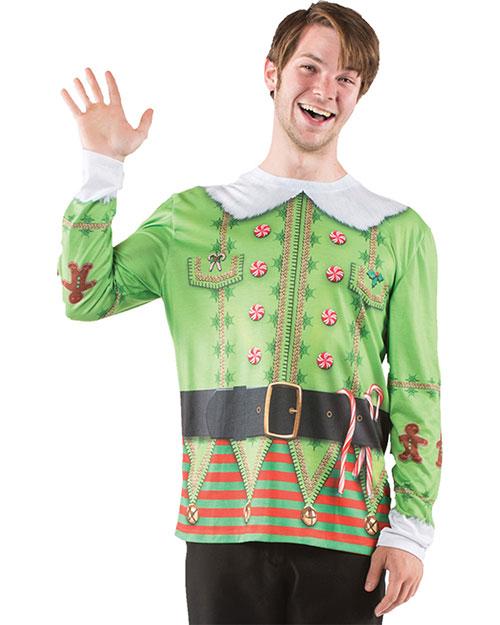 Halloween Costumes FR122018LG Men Ugly Christmas Elf Sweater Lg at GotApparel