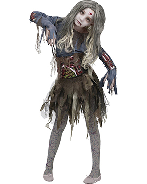 Halloween Costumes FW114532LG Girls Morris  Zombie Child 12-14 at GotApparel