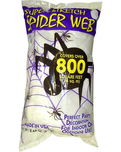 Halloween Costumes FW9523 Unisex Spider Web White 8.4 Oz at GotApparel