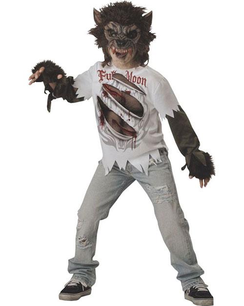 Halloween Costumes IC17015SM Unisex Morris  Werewolf Child Size 6 at GotApparel