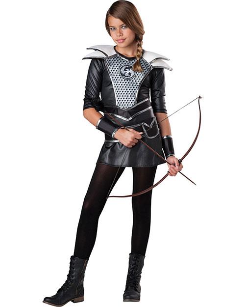 Halloween Costumes IC18071LG Girls Midnight Huntress Child 12-14 at GotApparel