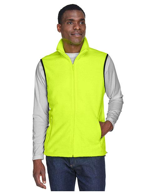 Harriton M985 Men 8 oz. Fleece Vest at GotApparel