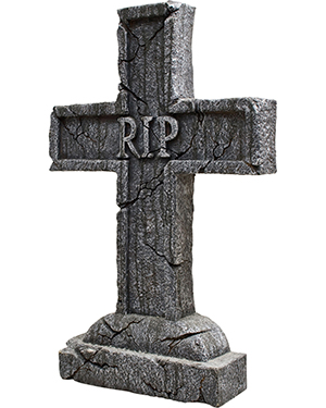 Halloween Costumes MR122334 Unisex Morris  Rest In Peace Cross Tombstone at GotApparel