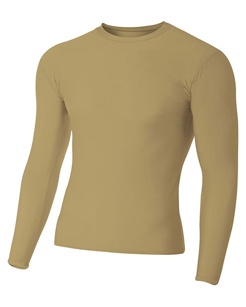 A4 N3133 Men Long-Sleeve Compression Crew at GotApparel