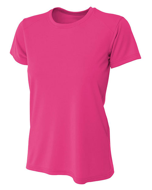 A4 NW3201 Women Shorts Sleeve Cooling Performance Crew Shirt at GotApparel