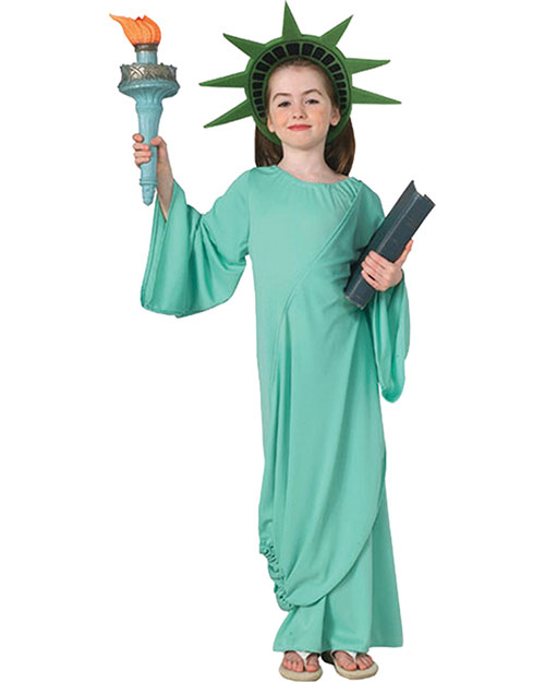 Halloween Costumes RU11259MD Girls Statue Of Liberty Child Medium at GotApparel