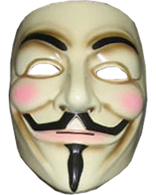 Halloween Costumes RU4418 Unisex V For Vendetta Mask at GotApparel