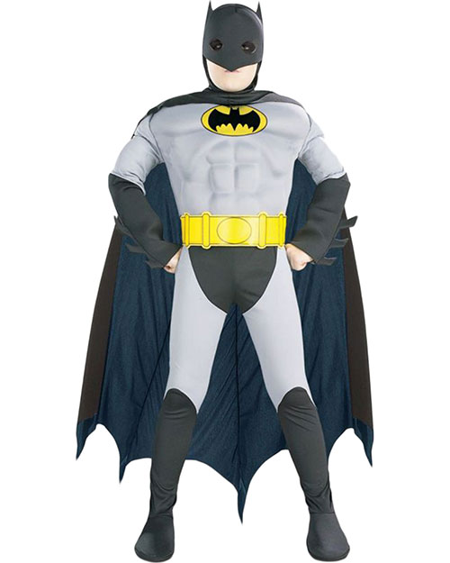 Halloween Costumes RU882211SM Boys Batman Musc Chest Child Sm at GotApparel