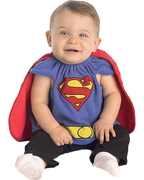 Halloween Costumes RU885106 Infants Superman Bib Costume at GotApparel