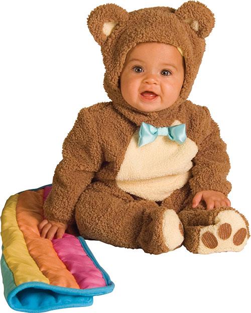 Halloween Costumes RU885356I Toddler Oatmeal Bear W/Rainbow Blankee at GotApparel