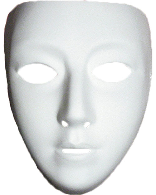 Halloween Costumes TF111602 Unisex Blank Female Mask at GotApparel