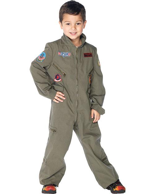 Halloween Costumes UATG48164XS Boys Top Gun Flight Suit Child Xs at GotApparel