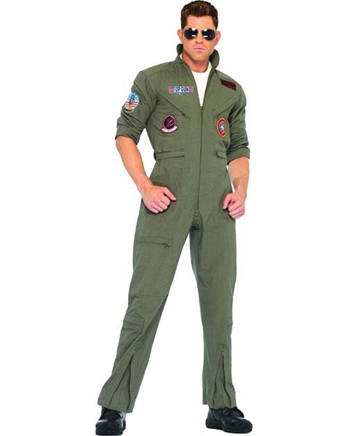 Halloween Costumes UATG83702ML Men Top Gun Jumpsuit Medium/Large at GotApparel