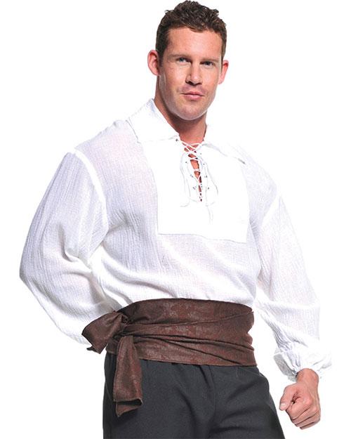 Halloween Costumes UR29302 Men Pirate Shirt White Ad One Sz at GotApparel
