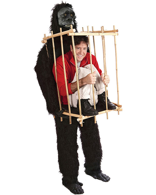 Halloween Costumes VA1001 Unisex Get Me Outta This Cage at GotApparel