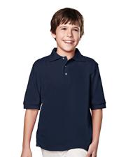 Tri-Mountain 090 Boys Element Pique Short Sleeve Golf Shirt at GotApparel