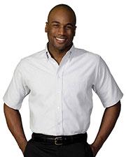 Edwards 1027 Men Performance Short-Sleeve Oxford Shirt at GotApparel