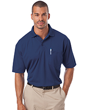 Blue Generation BG1052 Men IL-50 POCKETED POLO  -  BLACK 2 EXTRA LARGE SOLID at GotApparel