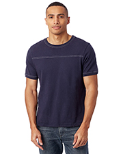 Custom Embroidered Alternative Apparel 1054CG Men 5 oz. Heavy Wash Football T-Shirt at GotApparel