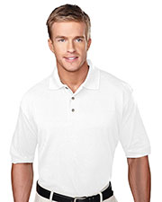 Tri-Mountain 105 Men Profile Short-Sleeve Pique Golf Shirt With Clean-Finished Placket at GotApparel