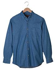 Edwards 1093 Men Long-Sleeve Denim Shirt at GotApparel