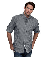 Vantage 1107 Men Easy-Care Gingham Check Shirt at GotApparel