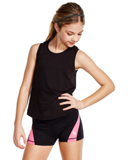 Soffe 1180G Girls Dri Clrblck Short at GotApparel