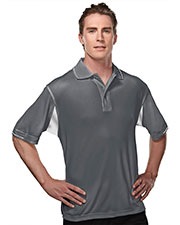 TM Performance 118 Men's Ultracool Waffle Knit Golf Shirt at GotApparel