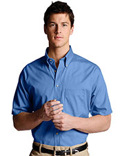 Edwards 1230 Men Poplin Short-Sleeve Shirt at GotApparel